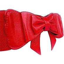 Extra anchos para hombre Fashion diseño de siluetas de cintura elástica cinturón de piel de que