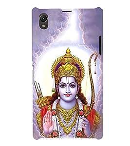 FUSON Prabhu Ram Giving Blessings 3D Hard Polycarbonate Designer Back Case Cover for Sony Xperia Z1 :: Sony Xperia Z1 L39h :: Sony Xperia Z1 C6902/L39h :: Sony Xperia Z1 C6903 :: Sony Xperia Z1 C6906 :: Sony Xperia Z1 C6943