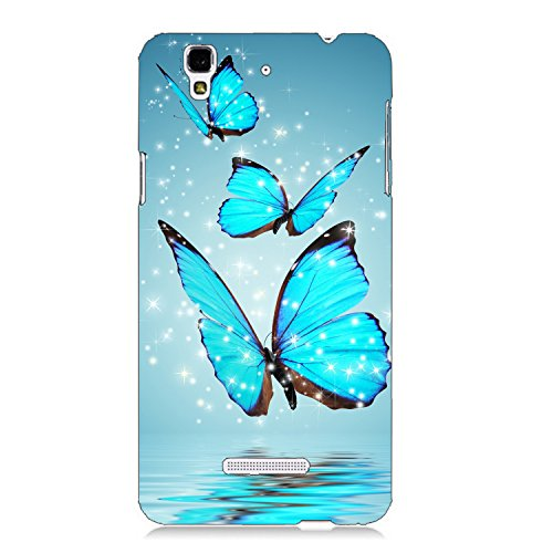 Clapcart Butterfly Design Printed Mobile Back Cover For Micromax YU Yureka / Yu Yureka Plus -Multicolor