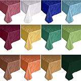 Damast Tischdecke in Marmor-Design Eckig - Größe & Farbe frei wählbar (Rot, ca. 110 cm x 180 cm Eckig)