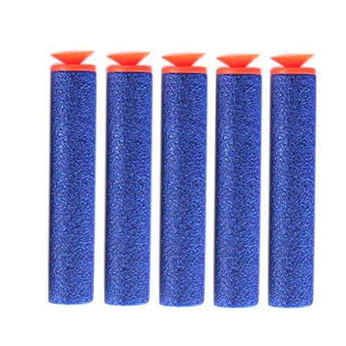 NUOLUX 100pcs Schaum Saug Darts für Nerf Blaster Toy Gun (Blau)