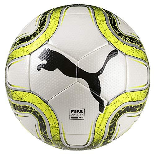 PUMA FINAL 2 Match (FIFA Quality Pro) Fußball, White-Lemon Tonic Black, 5 -