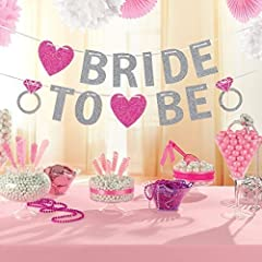Idea Regalo - Amscan 9900536 - Striscione per festa di addio al nubilato con scritta Bride to Be, con glitter, 3,5 m