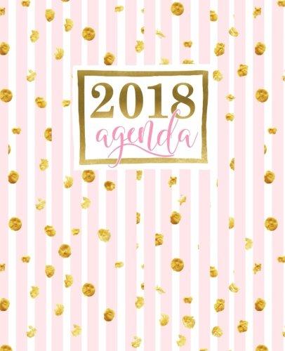 Agenda: 2018 Agenda semana vista español : 190 x 235 mm, 160 g/m² : Rayas rosas con manchas doradas (Calendarios, agendas y organizadores personales, Band 13)