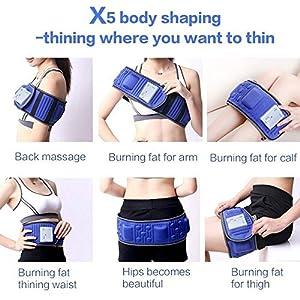 Vinteky® Massagegerät mit Wärmefunktion Schlankheitsgürtel Elektrischer Gürtel für Bauch Arme Rücken Beine