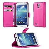 Cadorabo Hülle kompatibel mit Samsung Galaxy S4 Hülle in Cherry PINK Handyhülle mit Kartenfach und Standfunktion Schutzhülle Etui Tasche