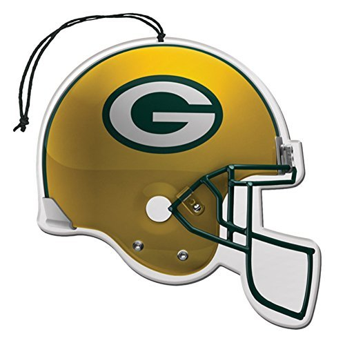 Licensed NFL Green Bay Packers Nu-Car Scent Helmet Shape Air Freshener Set Team Logo (Gift Box Included) by NFL