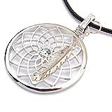 Gepardini Traumfänger Halskette mit SWAROVSKI® Kristalle, (mit Feder Rosévergoldet)