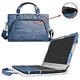 Ideapad 510 15 Housse,(2 en 1) spécialement conçu Étui de protection en cuir PU + sac portable Sacoche pour 15.6' Lenovo Ideapad 510 15 510-15IKB ordinateur(NON compatible Ideapad 510s/Ideapad 520),Bleu