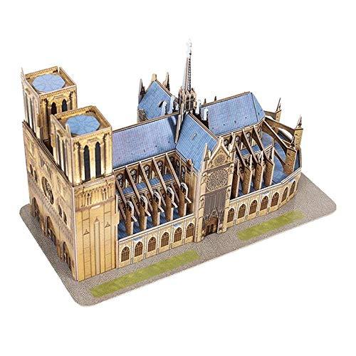 THREE Vintage hölzerne Kathedrale Notre Dame De Paris Modell Paris Notre Dame Gebäude Figur Home Desktop Office Dekor Geschenk, A