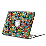 Fintie MacBook Air 13 Hülle Case - Ultra Slim Hochwertige Kunstleder Coated Hard Shell Schutzhülle Tasche für Apple MacBook Air 13.3 (A1466 / A1369) , Mosaic