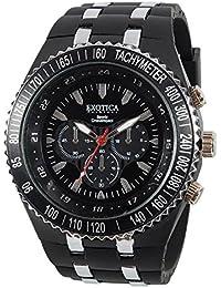 Exotica Black Dial Analogue Watch for Men (EF-01-Black-PL)