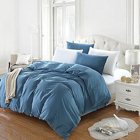 King/Queen 100% Baumwolle Bettbezug Einzel Doppel Bettbezug (Nur gehören Bettbezug), reiner Baumwolle Plain Double Single Bettbezug, fesselnde Lila, 180 × 220 cm