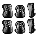 Protective Gear, OMorc Professional Outdoor Sports Knee Pads, Elbow Pads, Wrist Guards, Protective Gear Set for Skateboard, Biking, Riding, Cycling and Multi Sports, Scooter, Bicycle, Rollerblades, Set of 6pcs with Adjustable Band, Breathable Fabric For Children (Height: 120-165cm)