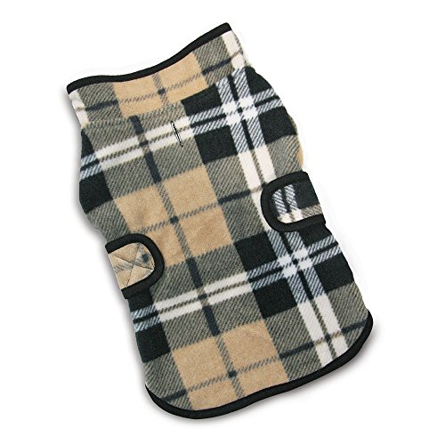 Best Pet Supplies 250-dbc-xl Voyager Wende Winddicht Pet Fleece Jacke, X-Large, Beige/Schwarz Checkers -