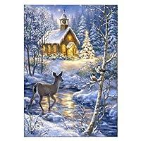 Kofun 5D DIY Diamond Painting, 5D DIY Painting Paint By Numbers Diamonds Embroidery Painting Cross Stitch Kit DIY Home Decor Christmas House 7# 30cmx40cm/12inx16in