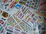 Collecte de paquet Motocross Racing Tuning Sticker Decal plus de 200 pièces au moins 20 feuilles par SET