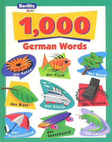 1,000 German Words (Berlitz kids