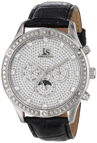 Joshua & Sons Men's JS-41-SS Sparkling Mechanical Multi-Function Strap Watch