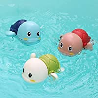 TEMSON Baby Bathing Toy Swimming Turtle Infant Cartoon Swim Tortoise Bath Toy for Kids 0-4 Years ( Set of 3 )