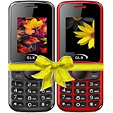 GLX W5, Basic Feature Mobile Phone, Combo Of 2 (Red+Black)