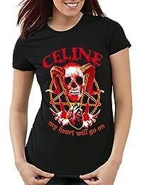 style3 CELINE Heavy Metal T-Shirt Femme my heart