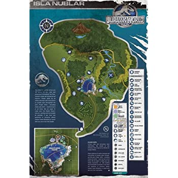 Gb eye 61 x 915 cm raptors jurassic world maxi poster multi colour gb eye 61 x 915 cm aged map jurassic world maxi poster multi colour gumiabroncs Image collections