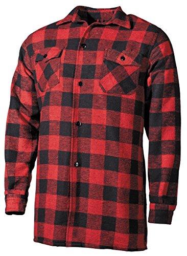 Camicia canadian wood cutter vecchietto molto pesante vecchietto camicia rosso-nero xl