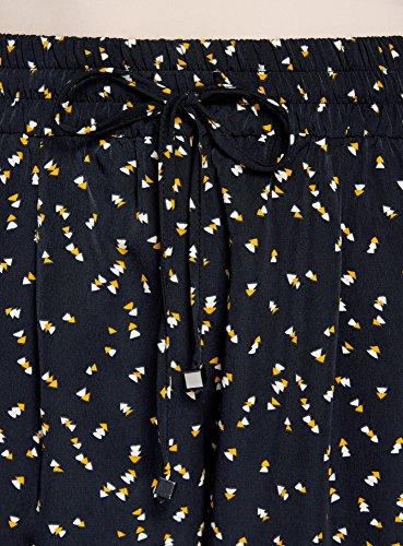 9f725cd422e2 ... oodji Collection Damen Leichte Hose aus Fließendem Stoff Schwarz  (2957G) ...