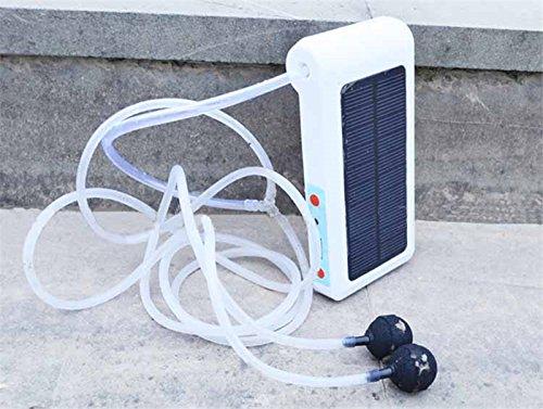 Etbotu 6LED Solarbetriebene USB Lade Tragbare Sauerstoffpumpe für Outdoor Angeln Aquarium