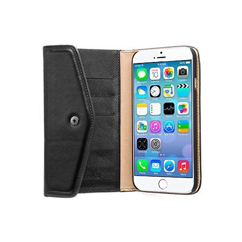 Melkco Premium Kuh leather Folio Series Book Case für Apple iPhone 6S Plus (5,5 Zoll) oliver lila Schwarz