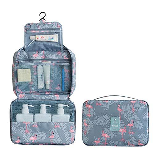 f66ab6cd4 Bolsa de Aseo para Colgar Organizador de baño Viaje Nylon Bolsa de  cosméticos portátil para Mujeres