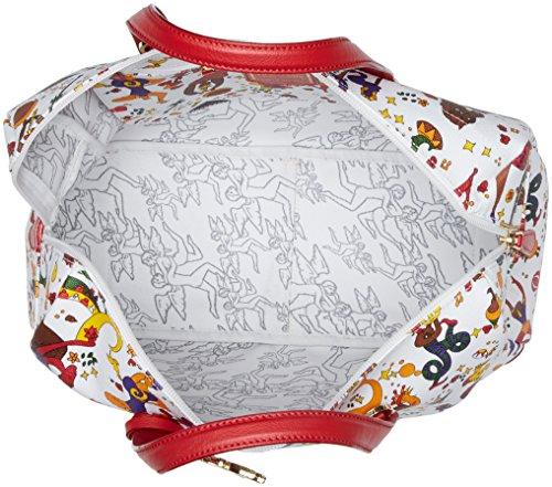 piero guidi 216724038, Borsa a Mano Donna, 36,5x26,5x15 cm Bianco