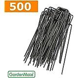 GardenMate® 500 Grapas Metálicas alambre de acero 150 mm de largo, 25 mm de ancho, 2,3 mm de espesor