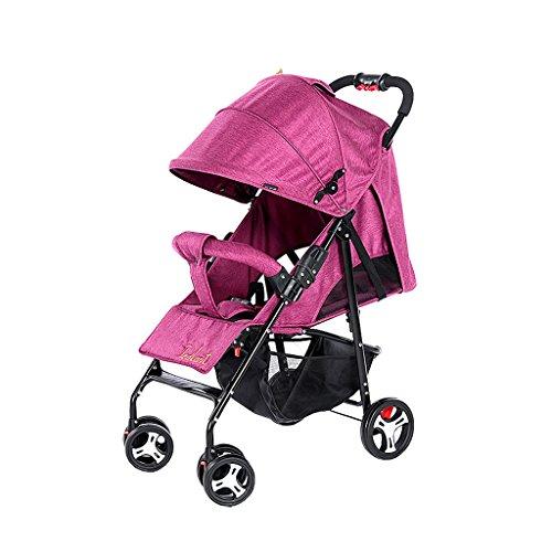 Der Kinderwagen kann in Einem ultraleichten tragbaren Klapp-Kinderwagen, blau/grün/rosa rot/grau, 64 * 102cm platziert Werden (Color : Rose Red)