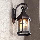 Pumpink Lampada da parete in alluminio in vetro da esterno impermeabile americano Outdoor Villa Cortile all'aperto Corridoio Balcone Sconce a parete Simmetria creativa Semplicità Parete a pioggia Luce