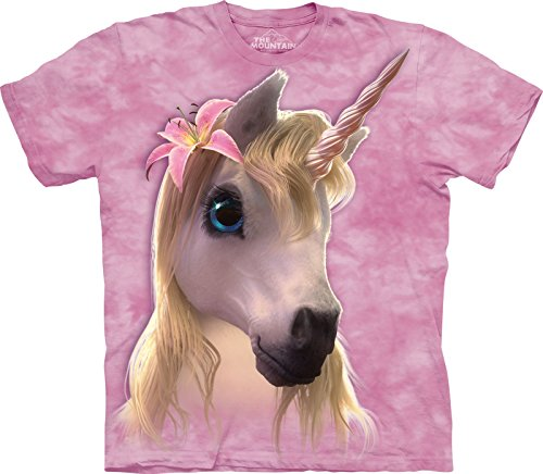 Tee-shirt-enfant-Licorne-rose
