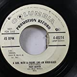 Merv Griffin 45 RPM A Girl With A Figure Like An Hour Glass / Much Too Young To Die