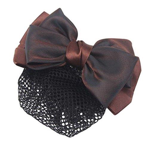3pcs Bow Tie barette cheveux clip Snood Net coiffure pour les femmes, G