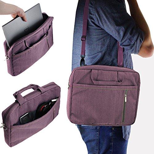 """Navitech 15.6"""" Lila Laptoptasche mit Schultergurt Passend für die Schenker F526 Flex Notebook"""