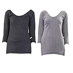 Vimal Winter Premium Thermal Black Top For Women(Pack Of 2)