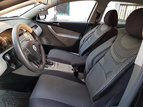 Sitzbezüge k-maniac | Universal schwarz-grau | Autositzbezüge Set Komplett | Autozubehör Innenraum | Auto Zubehör für Frauen und Männer | NO2229383 | Kfz Tuning | Sitzbezug | Sitzschoner