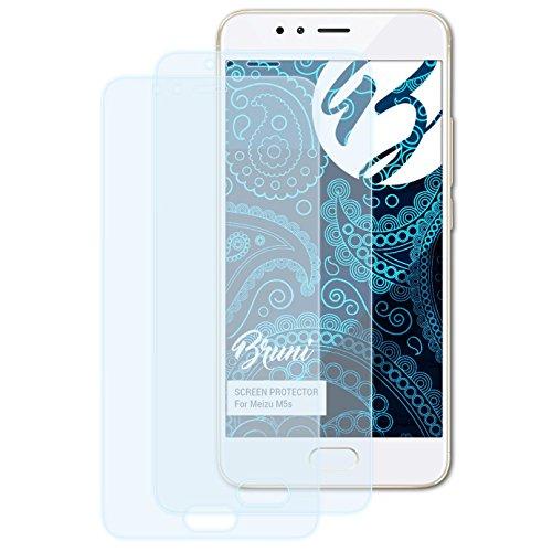 Bruni Schutzfolie für Meizu M5s Folie, glasklare Bildschirmschutzfolie (2X)