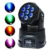 KEZIO LED Lichter 4 in 1 7x10W RGBW Moving Head Licht von DMX512 LED mit 4 Steuermodus für DJ KTV Disco Party Ballroom