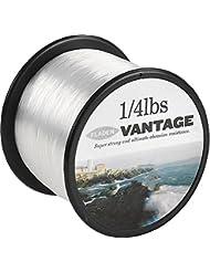 Fladen Vantage Pro Bulk 1/4lb Bobinas de extra fuerte línea de monofilamento de pesca (transparente y marrón)–Viene en 3, 6, 10, 12, 14, 18, 23, 28, 35, 45y 55Lbs, transparente