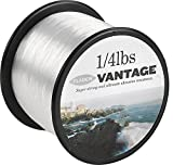 FLADEN VANTAGE PRO Bulk 1/4lb Spools of Monofilament Sea Fishing Line (Clear and Brown) -comes in 3, 6, 10, 12, 14, 18, 23, 28, 35, 45 and 55lbs (Clear, 6lbs - 2410m - 0.22mm)[13-354-06]