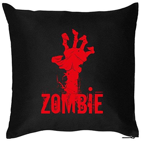 Reißverschluss Kostüm Zombie - Lässiges Halloween Deko Kissen zum Gruseln - ZOMBIE Hand - coole und bequeme Dekoration für Halloween