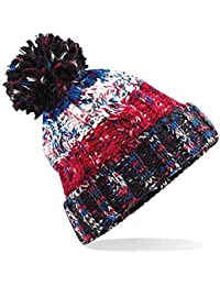 611e5061b879b8 4sold Mens Womens Beanie Warm Winter Corkscrew Cable Knitted Bobble Hat  Plain Ski Pom Wooly Cap