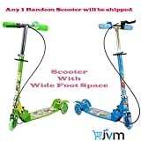 3 wheel scooter / Cycle with Height Adjustable & Fold able kids scooter with Led Lights in wheel (Brake & Bell) (ANY 1 SCOOTER )