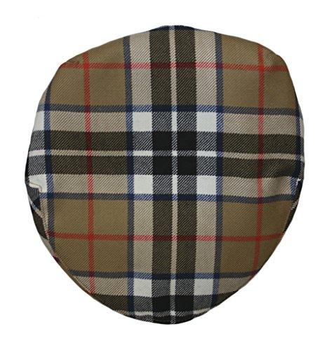 Barnton Flatcaps, mit Schottenkaro, hochwertig, erhältlich in Vielzahl von verschiedenen Karomuster und Größen Gr. Small, Thomson (Camel) -